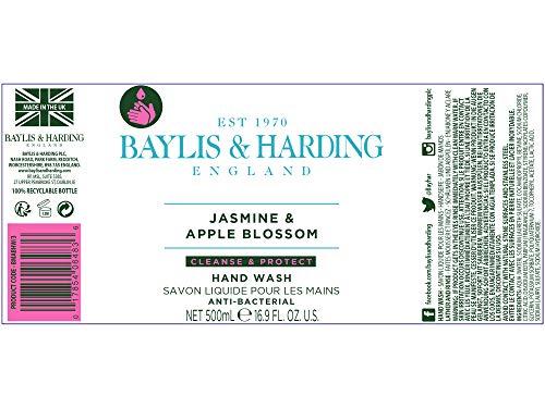 Baylis & Harding Jasmine and Apple Blossom Anti-Bacterial Hand Wash, 500 ml, Pack of 3