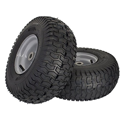 "MARASTAR 21436-2PK 15x6.00-6"" Front Tire Assembly Replacement for Husqvarna Riding Mowers"