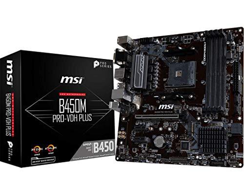 MSI B450M PRO-VDH Plus (Sockel AM4/B450/DDR4/S-ATA 600/Micro ATX)