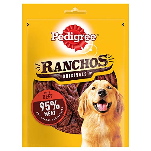 Pedigree Ranchos – Tender Dog Treats con manzo 70 g (confezione da 7)