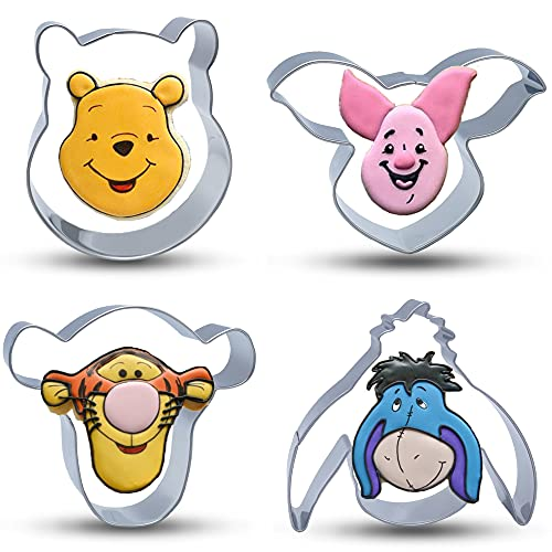 Lokie Winnie the Pooh Cookie Cutters Stainless Steel Cookie Molds 8PCS Set with Pooh Bear,Tiger,Piglet,Eeyore