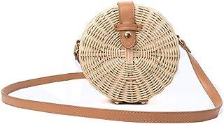 Hycurey Womens Round Straw Purse and Handbag Handmade Crossbody Bags Summer Beach Sea Shoulder Bag