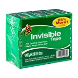 Duck Brand Matte Finish Invisible Tape Refill for Dispenser, 10 Rolls, Each Roll 3/4-Inch x 1000 Inches for 10000 Total Inches