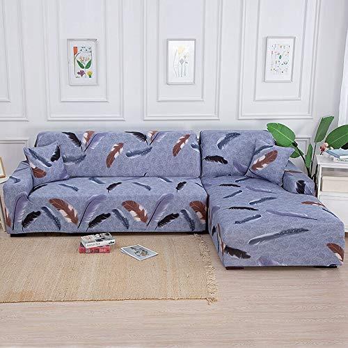 WXQY Funda de sofá de Esquina geométrica para Sala de Estar Funda de sofá elástica Funda de sofá Toalla de sofá elástica Funda de sofá en Forma de L A11 3 plazas