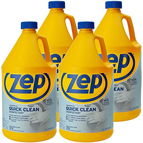 Zep Quick Clean Disinfectant 128 Ounces ZUQCD128 (Case of 4) Kills 99.9% of Bacteria in 5 Seconds