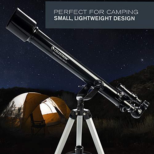 Celestron - PowerSeeker 60AZ Telescope - Manual Alt-Azimuth Telescope for Beginners - Compact and Portable - BONUS Astronomy Software Package - 60mm Aperture
