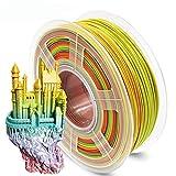 Filamento de impresión 3D Pla de 1,75 mm, Rainbow PLA Filamento para impresora 3D y...