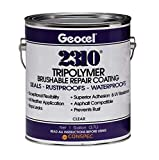 Geocel 2310 Industrial Grade Sealant Clear 1 Gallon Brushable Instant Roof Leak Crack Repa...