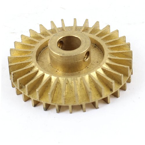 Waterpomp Vervanging Dubbele Zijkant 42mm Dia Gold Tone Messing Impeller