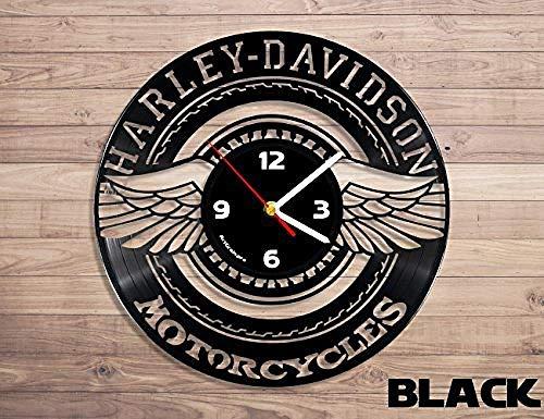 AIYOUBU Orologio da Parete con Logo in Vinile PRO Harley Davidson