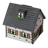 Unbekannt Haus Spardose in grau - Einfamilienhaus Sparschwein Sparbüchse