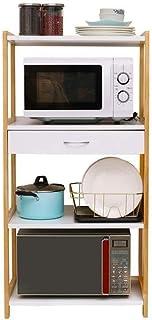 HYYDP étagère Cuisine étagère de rangement stands Organisateur étagère de rangement Casiers, cuisine Four à micro-ondes, S...