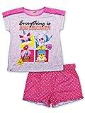 LEGO Big Movie 2 Girls Pajama, 2 Piece P J Set, Short Sleeve, Pink, 6/6x