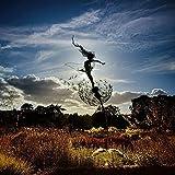 Feen Und Löwenzahn Tanzt Zusammen – Gartendeko Metall, Fairy Bloom Gartendeko, Mythische Feengarten, Magische Sammlerstück, Figur Feen, Pixies, (B)