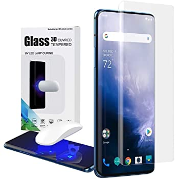 DEEP INDIA Tempered Glass for OnePlus 7 pro / 7t pro Advanced Border-less Edge to Edge UV Glue Case Friendly Tempered Glass Screen Protector with easy installation kit