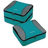 Organizador para Maleta Equipaje, Gonex Bolsas de Viajes Cubos de Embalaje Almacenaje Impermeable para Ropa Zapatos Cosméticos Accesorios Portátil Neceser de Viaje Tocador, Kit de 3 PCS (Azul Claro)