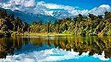 No 1000 Piezas Puzzles 3D,Paisaje Natural del Lago Personalizado De Madera Montaje Rompecabezas Divertido,
