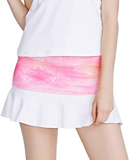 Meja Women's Tennis Skirt, Elastic Quick-Drying Active Performance Skort with Shorts for Running Golf Casual Skirt