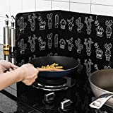 Kitchen Oil Splash Guard, Cooking Oil Splash Screen Cover,Splash Shield 3 Sided Foil Plate Baffle for Wall Stove Oven Frying Pan (2PCS)