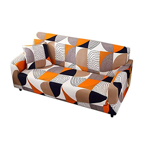 Hugyou Funda de almohada de estilo moderno con diseño geométrico simple y con reposacabezas para oficina y coche