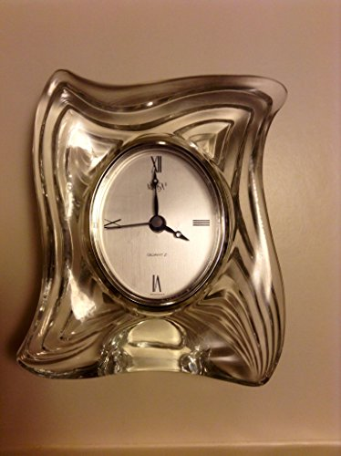 Mikasa Led Crystal Clock. New . Dazzling Heavy Crystal