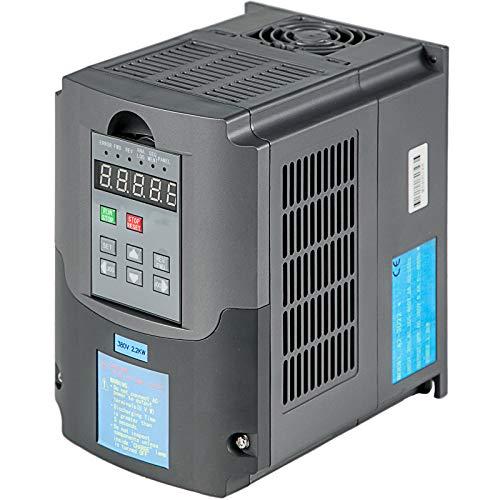 VEVOR Variador de Frecuencia 2.2KW 10A 380V Convertidor de Frecuencia Variable VFD 3HP 400Hz con Motor Asíncrono Trifásico