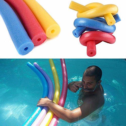 Poolnudel Schwimmnudeln ,COLORFUL Pool Float Sticks EPE Tupfer Swim Sticks Kinder Spielzeug hohle Schwimmen Sticks ,150x6.5 cm (Rot)