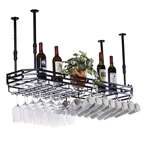 Organizza la Cucina Portabottiglie in Metallo con Calotta in Vetro con Pannello in Vetro, portaoggetti sospeso per Bottiglie di Vino, portabottiglie, portabottiglie, portabottiglie, fioriere/Club d