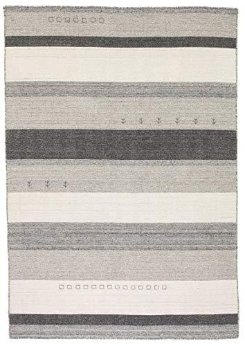 Outlet Teppich Runa S&P Anthrazit Wolle / Viskose 160 x 230 cm