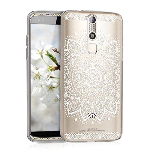 kwmobile Hülle kompatibel mit ZTE Axon Mini - Handyhülle - Handy Case Blume Weiß Transparent