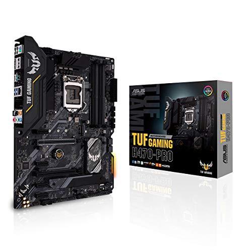 ASUS TUF Gaming H470-PRO Mainboard Sockel 1200 (ATX, Intel H470, SATA 6Gbit/s, USB 3.2 Gen 2, Intel LAN, Thunderbolt 3, Aura Sync)