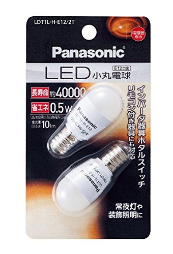 パナソニック LED小丸電球 T形タイプ 2個パック LDT1LHE122T 箱1組