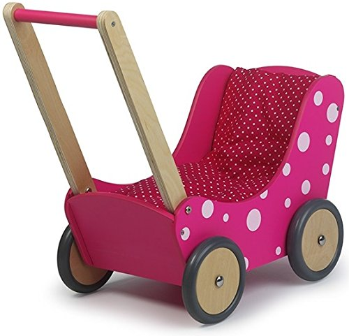 Unbekannt Simply for Kids 01170 Bois Chariot Poupée Rose