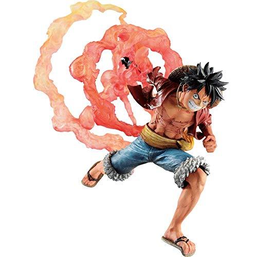 ZNLHJ Una habitación: Mono dy. Luff Figure PVC 13 cm High High Alias: Kid Straw Hat Straw Fighting Ver 丨 Regalos navideños para fanáticos del Anime, Plantilla de Escultura de computadora