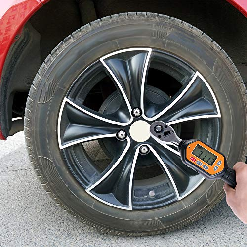 Beslands 3/8 inch Digital Torque Wrench, 1.3-44.25 ft-lbs Range Accurate of Clockwise ±2% / Counterclockwise ± 2.5% LED and Buzzer Calibrated (1.3 to 44.25 ft-lbs) (15.93-531.04 in-lbs) (1.8 to 60 Nm)