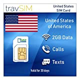 travSIM Lycamobile Prepaid USA SIM-Karte (Inkl Hawaii & Puerto Rico) SIM - 2GB Mobile Daten 3G / 4G...