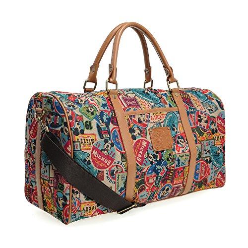 PLIC n PLOC A123.Disney Mickey Mouse Men Women Travel Weekend Duffel Luggage Overnight Bag (01.Brown)
