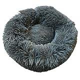Compresión al vacío Felpa Invierno Cálido Nido PP Cama de Relleno de algodón Cómoda Alfombra para Mascotas Suministros para Mascotas para Perros y Gatos (Gris Oscuro S)