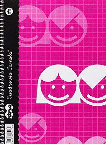 Cuaderno Espiral Cuadrovia 4º/40 H, 4mm, tamaño Cuarto, 1 unidad [colores surtidos]
