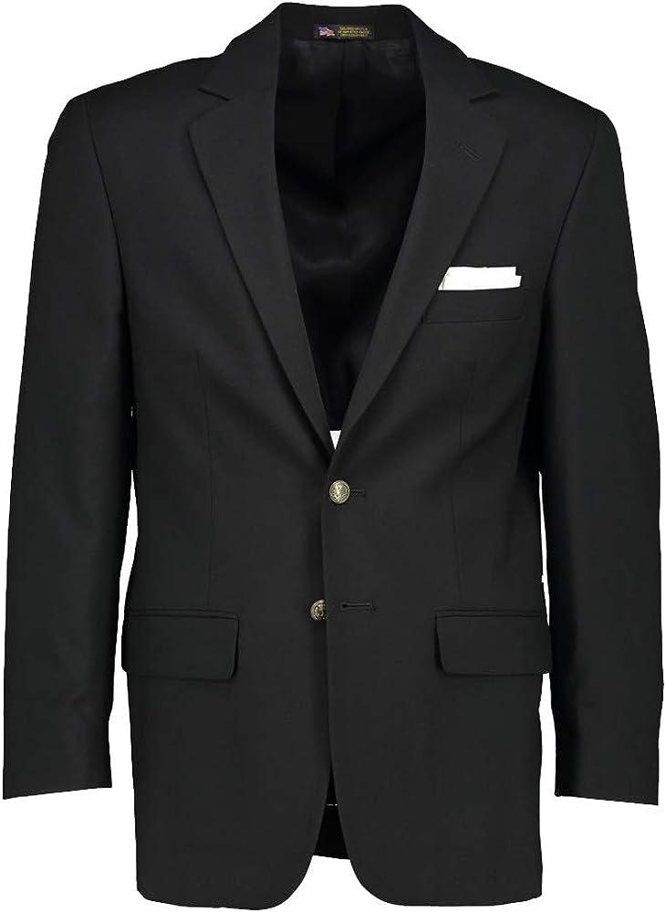 Hardwick Classic Fit Tropical Wool Black Blazer