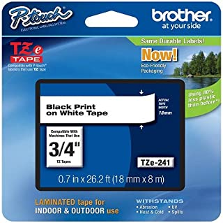Brother Genuine P-touch TZE-241 Tape, 3/4