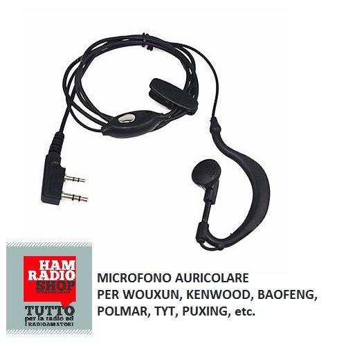 Microfono Auricolare Per Wouxun, Kenwood, Baofeng, Polmar, Tyt, Puxing