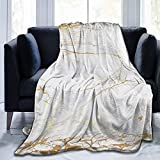 Marble Blanket Throw Fleece Ultra Soft Warm Couch Bed Sofa Plush Micro Flannel 60'x50'