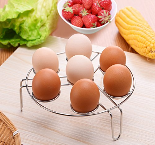 2 Pack Egg Steamer Rack for Instant Pot, Stackable Multipurpose Vegetable Steaming Rack Stand for Instant Pot and Pressure Cooker, Stainless Steel Food Basket Stand