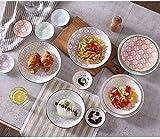SZJY 18 Piezas Juego de Vajilla Juego de vajilla de Plato de Placa de cerámica Naranja Hotel/Fiesta de Cumpleaños/Restaurante