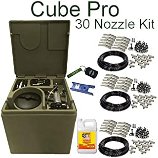 Pynamite Cube PRO Mosquito Misting System, Small 26 inch Cube Still 55 gallons with 30 Nozzle Kit and Free Misting Concentrate