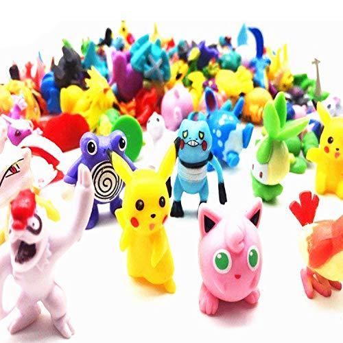 Mini Figures Toy, Random 72 pcs Mini Toy Collection Monster Set