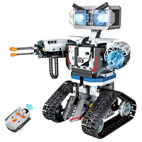Remote Control Building Block Robot Kit,Large STEM Robotic Building Block Toys. Machinery Technology Weapon Robot Warrior,for Adult or 10+ Year Boys Girls Kids Gift(611 Pieces)