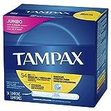 Tampax Cardboard Applicator Tampons, Regular Absorbency, 54 Count - Pack of 2 (108 Total Count)
