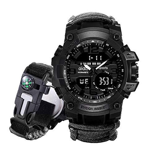 Juya Digital Survival Watch, Bracelet Watch Waterproof Emergency Military...